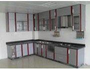 Chuyên sản xuất thi công tủ nhôm kính, tủ bếp nhôm kính giá rẻ