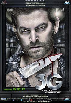 Indian Bollywood Hindi Film 3G (2013) Poster - Neil Nitin Mukesh New Look