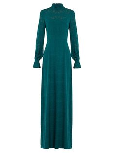 Click here to buy Saloni Mary long-sleeved fil coupé silk gown at MATCHESFASHION.COM