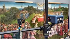 X-rays and infrared light allowed scientists to peer behind the layers of paint that were ... Ghent Altarpiece, Jan Van Eyck, European Paintings, Scientists, Lamb, Restoration, Layers, Artwork, Layering