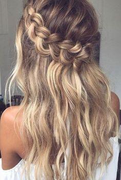 Braided Hairstyles For Wedding, Box Braids Hairstyles, Hairstyle Ideas, Party Hairstyle, School Hairstyles, Festival Hairstyles, Hairstyles 2018, Holiday Hairstyles, Office Hairstyles