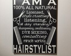 Hairstylist prayer hair salon decor hair by SunShineWallArt