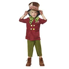 Let your child bring a little mischievous fun to their next costume party in this Lil' Mad Hatter Toddler Costume. Mad Hatter Halloween Costume, Mad Hatter Costumes, Halloween Party Costumes, Halloween Fancy Dress, Halloween 2018, Halloween Nails, Tween Costumes, Toddler Boy Halloween Costumes, Mad Hatter Top Hat