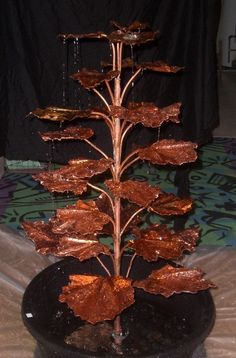 ArtofGardening.org: My Homemade Copper Coral Bell Fountain