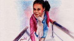 Speed Drawing Anna Lebedeva Portrait Time Lapse - Анюта Лебедева Портрет