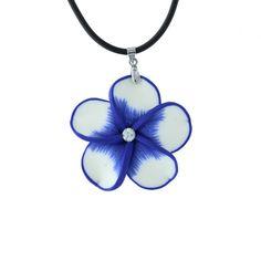"""Collier 18"""" en forme de fleur Bleue #ModeSG #collier #flowers #fleurs #Bijoux"""