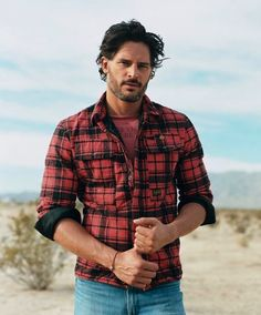 Image result for joe manganiello wearing plaid