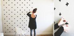 DIY #washitape #wall | everythingemilyblog via Kinderkamerstylist
