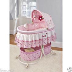 Summer Infant Mother's Touch Soothing Bassinet Lil Ladybug Pink and White | eBay