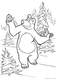 Image result for masha and the bear russian printables