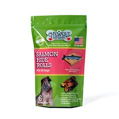 Chewerz SALMONHIDE ROLLS For Dogs  Cats  Pure Wild Alaskan Salmon Skins Made in USA Only  Best Fish Skin Jerky Dog Treats Loaded with Omega 3 Fatty Acids  Oil Helps Pets Look  Feel Great