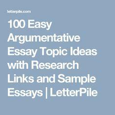100 argumentative essay topics