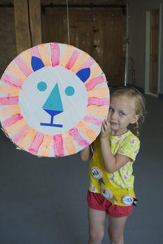 Lion Piñata from Kids Craft Camp | Mer Mag