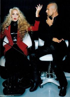 Thierry Mugler et sa muse Jerry Hall