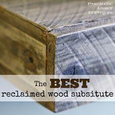 Pneumatic Addict : The BEST Reclaimed Wood Substitute