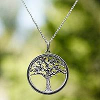 Discover unique handcrafted treasures. Every purchase will help UNICEF save and improve children's lives and help support talented artisans. Sterling silver pendant necklace, 'Joyous Jacaranda'