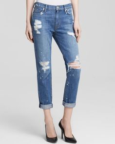 Hudson Jeans - Jude Slouch Skinny in The Strip