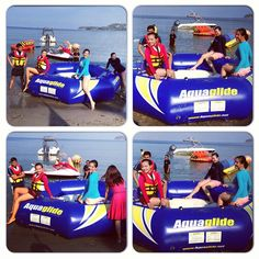 Unang Hirit (tv show) gang gets ready to try the Aquaglide. #ClubPuntaFuego
