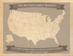 Free printable US Travel Map