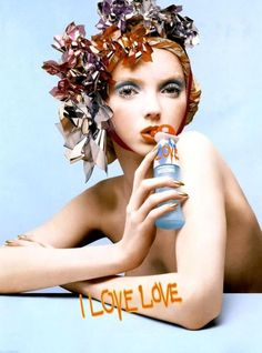 Fashion,I love love,Lily Cole,Moschino, Lily Cole, Moschino, Anuncio Perfume, Perfume Adverts, Pictures Of Lily, Love Lily, Beauty Ad, Fantasy Hair, Retro