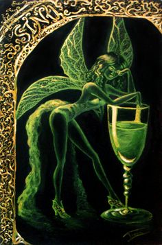 The Green Fairy - Absinthe I want to try! Fantasy Creatures, Mythical Creatures, Fantasy World, Fantasy Art, Fantasy Fairies, Green Fairy Absinthe, Love Fairy, Illustration, Manet
