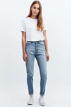 """Cheap Monday – Jeans """"Donna"""" in Mittelblau mit geradem Bein"""