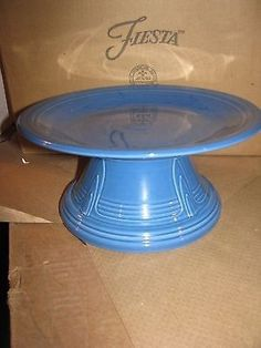 Lapis Fiesta® Cake Stand ~ This cake stand is made from a Hostess Bowl turned upside down and a 10 1/2 inch Dinner Plate placed on top | eBay