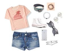 """""""Untitled #8"""" by aehello on Polyvore featuring Aéropostale, Dsquared2, Converse, Lokai, Pura Vida, Ray-Ban, Kate Spade and AK Anne Klein"""