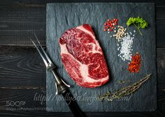 Pic: Raw fresh meat ribeye steak