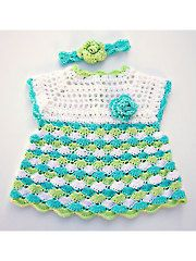 Crochet - Shelly Dress & Headband - #RAC1391