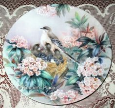 Lena Liu Song Of Spring 10th In The Nature's Poetry Series Collectors Plate MINT
