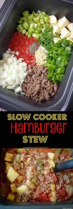 Crockpot / Slow Cooker healthy whole30 paleo - Hamburger flavors in a soup! Not just any soup, a healthy whole 30 compliant and paleo soup that cooks in your slow cooker in just a couple of hours.