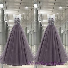 Prom dress 2015, cute grey lace tulle princess high waist long junior prom dress for teens, ball gown, occasion dress #promdress -> http://sweetheartdress.storenvy.com/products/13750902-grey-tulle-princess-high-waist-long-lace-prom-dress-gown