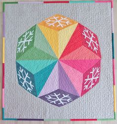 Snowflake quilt pattern - three quilting techniques for a winter snowflake quilt.