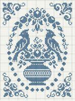 fair isle or crochet or cross stitch Cross Stitch Bird, Cross Stitch Samplers, Cross Stitch Animals, Cross Stitch Charts, Cross Stitch Designs, Cross Stitching, Cross Stitch Embroidery, Embroidery Patterns, Cross Stitch Patterns