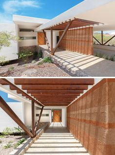 rammed earth walls: Home designed by Imativa Arquitectos. Photography by Alexander Potiomkin.