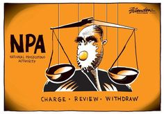 The NPA's head has egg on his face, remarks Brandan