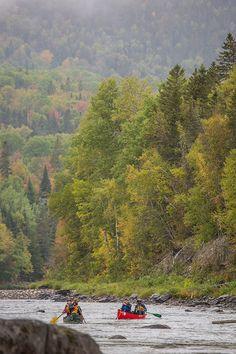 Amateurs de canot, de kayak et de planche à pagaie : la Gaspésie foisonne de rivières limpides. Elles vous permettront d'accéder à des chutes et de traverser les montagnes le temps d'une journée ou d'un séjour en canot-camping.  Photo : CHOK Images. Excursion, Kayak, Photos, Images, Nature, Travel, Children Playground, Mountains, Pictures