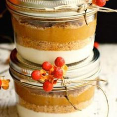 These are not the shelf gift in a jars they require refridgeration and are just a cute add to a basket or a wonderful way to serve pie at a gathering like the 4th of july  Picture and recipe from farm girl doubles