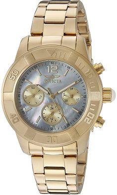 Invicta Women's 21613 Angel Two-Tone Stainless Steel Watch Invicta Angel, Glitter Pumps, Rose Gold Watches, Rolex Watches, Analog Watches, Stainless Steel Watch, Michael Kors Watch, Gold Jewelry, Quartz