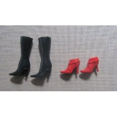 Barbie Doll Clothes Accessories: 2 Pairs of Doll Boots
