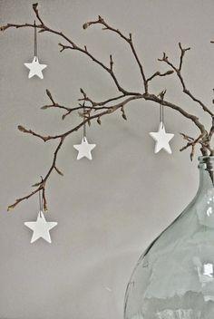 Estrellas en el árbol de navidad