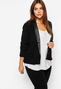 Plus Size 2015 new women's Contracted personality suit jacket 14-20  Free Shipping