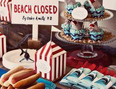 Jaws Shark Attack Summer Beach Printable Birthday by HelloMySweet, $23.00