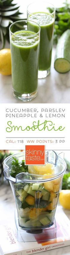 Cucumber, Parsley, Pineapple and Lemon Smoothie – not just delicious, it's also dairy-free, paleo and vegan
