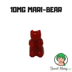 10MG MARI-BEAR (INDICA PHOENIX TEARS INFUSED #EDIBLE) These delicious candy bears have been infused with 10mg of #Indica Phoenix tears. Perfect for when you are looking for a light buzz. #betterwithbc #bakedinbc #acmpr #cbdcanada #mmjcanada