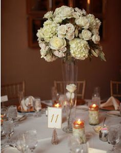 Tall White Floral Centerpiece