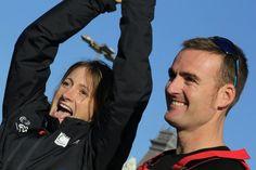 Anna y Gerard, Felices a punto de zarpar a dar la vuelta al mundo sin escalas!! Equipo Gaes que los buenos vientos los acompañen! BWR 2014/15