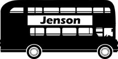 Personalised wall art london bus from £3.99