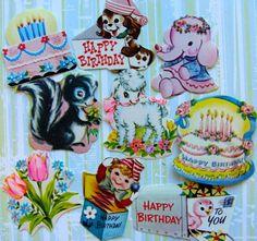 Vintage Kitsch Lamb Birthday Cakes Dennison by reginasstudio